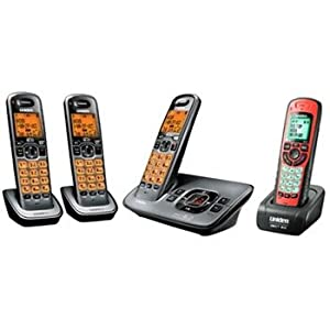 Uniden 6.0 Digital Answering System with 3 Standard and 1 Waterproof Handsets