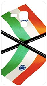 I Love India Flag Image White Back Cover Case for Samsung Galaxy S Duos S7562
