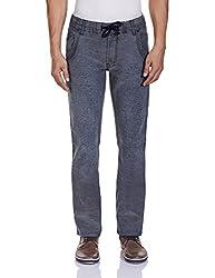 Yellow Jeans Men's Fashion Slim Jeans (PLAYBOY 608_36W x 34L_Grey and Black)