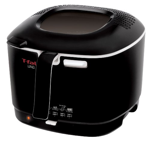 T-fal FF1038002A Uno 2.2-Pound / 1.6-Liter Cool Touch Deep Fryer, Black