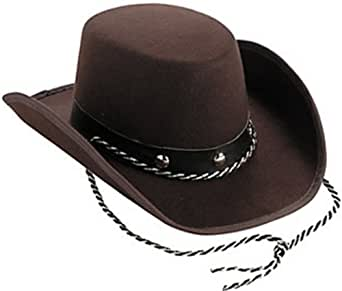 Small Toddler Size Cowboy Hat- One Size Fits Most Babies / Toddlers -Brown