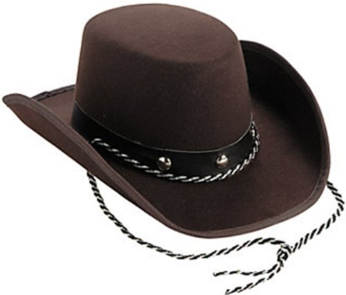 Small Toddler Size Cowboy Hat- One Size Fits Most Babies / Toddlers choose color (brown)
