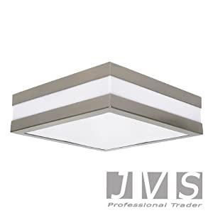 PROVANCE IP44 E27 SQUARE ceiling wall lamp ceiling lamp wall lamp LED from JVS-Handel Germany