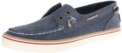 Original Penguin Men's Catamaran Canvas Boat Shoe,Denim,7 M US