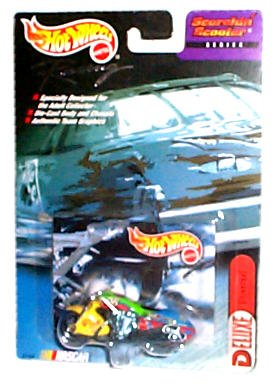 Hot Wheels Racing - NASCAR - Scorchin' Scooter Series - Deluxe: Universal #98 Motorcycle (Blue/Green/Red/Yellow)