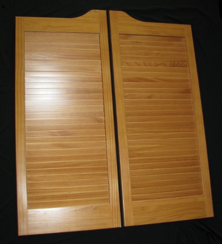 Pre-Stained (ready to install) Cafe Doors Louvered pre-fit for 36