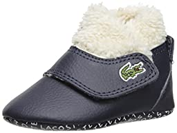 Lacoste Baby B Snug RBR Slip On (Infant/Toddler), Dark Blue/Dark Blue, 3 M US Infant