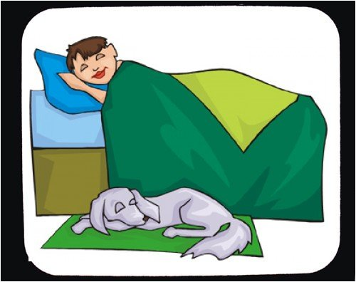Decorated Mouse Pad with body, individuals, individual, mammal, humans, person, dog, human, boy, persons, blanket, people, pet, animal, sleeping, bed, canine