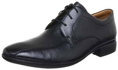 Clarks 20353716, Chaussures à lacets homme - Noir (Black Leather), 48 EU