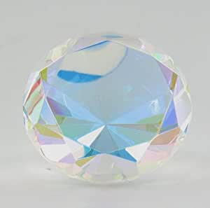 1 X Multi Color Prism Glass Diamond Shaped Paper Weight