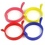 「Ronsen」卵焼き器 シリコーン 目玉焼きのリングの4つ 丸形