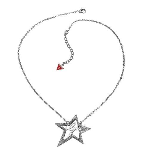 Guess Damen-Halskette Silberfarben Rhodiniert Sternelement mit Weien Schmucksteinchen 43-48cm UBN80108 thumbnail