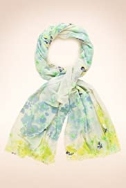 Indigo Collection Floral Lightweight Scarf [T01-4808I-S]