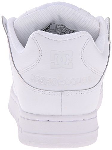 DC Men's Manteca Skate Shoe, White/White/White, 12 M US
