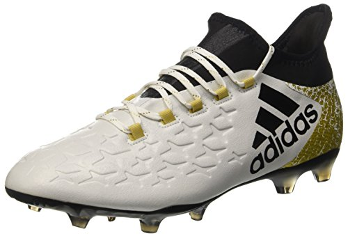 Adidas X 16.2 Fg - Scarpe da Calcio Uomo, Bianco (Ftwr White/Core Black/Gold Met), 45 1/3 EU