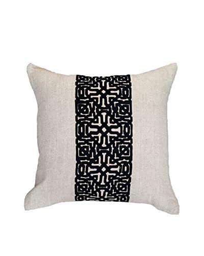 Bandhini Homewear Design Moroccan Screen Throw Pillow, Black/Natural