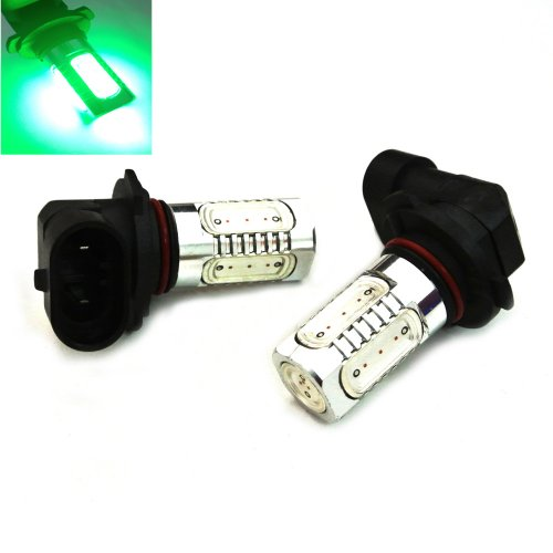 Lasm 9005 (Hb3) Type 7.5W High Power Smd Led Fog/Drl Bulb Xenon Green Light (1 Pair)