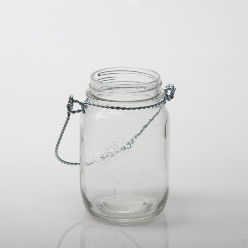 Eastland® Small Mason Jar with Handle Glass Set of 12