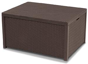 Allibert 220001 monaco tavolino lounge cassapanca per for Cassapanca vimini