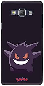 The Racoon Lean printed designer hard back mobile phone case cover for Samsung Galaxy A7. (gengar)