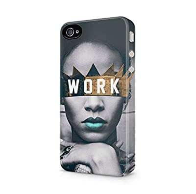 Rihanna Work iPhone 4, iPhone 4S Hard Plastic Phone Case Cover