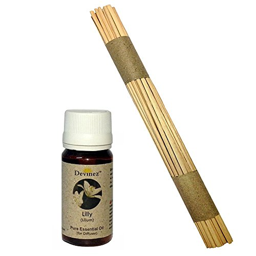 Devinez Premium Reed Sticks/ Refill Pack For Reed Diffusers 10 Inches (50 Sticks) With Free 15ml Lilly Oil For...