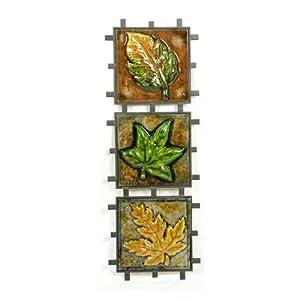 Pinnacle Strategies H74292 3-Piece Leaf Metal Wall Plaque