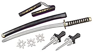 Official Costumes Ninja Weapon Kit, One Size, Silver
