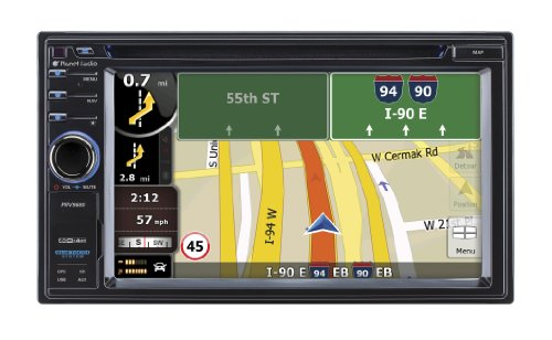 Planet Audio Pnv9680 In-Dash Single-Din 6.2-Inch Touchscreen Dvd/Cd/Sd/Mp4/Mp3 Player Receiver With Navigation Bluetooth Streaming Bluetooth Hands-Free With Remote