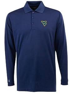 West Virginia Long Sleeve Polo Shirt (Team Color) by Antigua