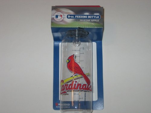 ST. LOUIS CARDINALS 9 oz. Team Logo BABY FEEDING BOTTLE with Measuring Guide