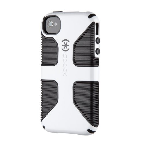 Speck Products CandyShell Grip Case for iPhone 4/4S - 1 Pack - Carrying Case - Retail Packaging - White/Black