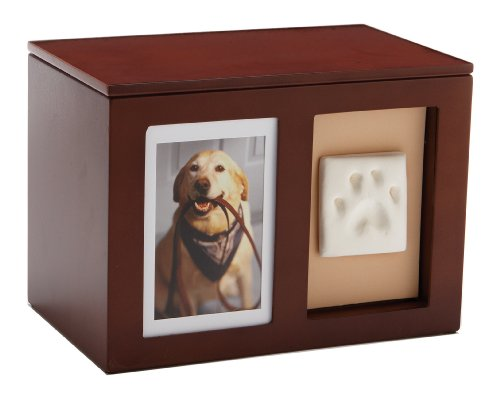 Pearhead Pawprints Pet Memorial Memory Box
