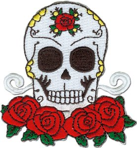 Application Candy Skull and Roses Patch