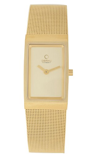 Obaku by Ingersoll ladies gold dial gold stainless steel mesh bracelet watch