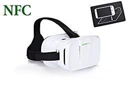 eimolife® 2.0 VIRTUAL REALITY CARDBOARDVIEWER with NFC Magnetic Color Cross Universal Google 3D VR Complete Kit Real HD 3d Experience(with NFC tag)