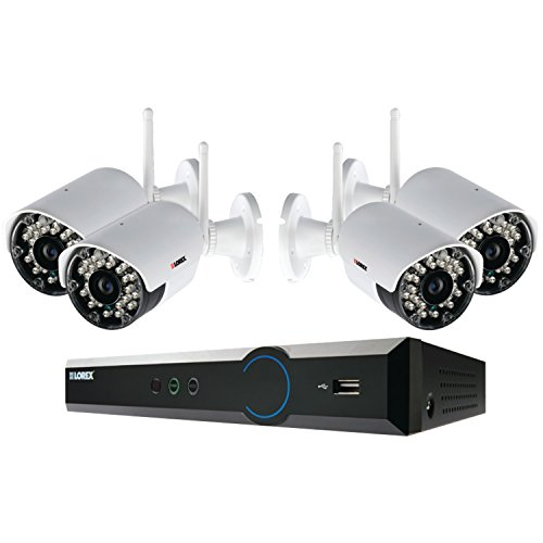 Lorex Lh024501C4Wb 4-Channel 500Gb Eco Blackbox 4 X 960H Wireless Indoor/Outdoor Security Camera System With Stratus Connectivity (White)