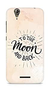 AMEZ love you to the moon and back Back Cover For Acer Z630S