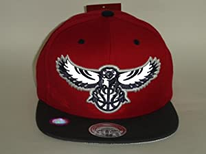 Mitchell and Ness Atlanta Hawks NBA Reflective Black Snapback Cap by Mitchell & Ness