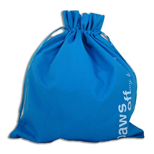 "della Q Edict Yarn Storage and Knitting Bag (11"" W x 12"" H) ""Paws Off My Knitting""; 205-O Ocean 118-2-205-O from della Q"