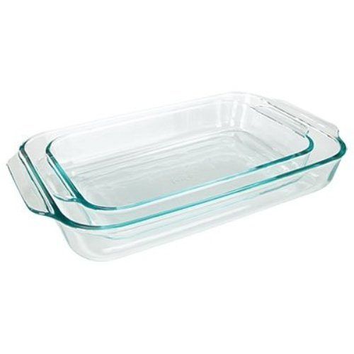 Pyrex Basics Clear Oblong Glass Baking Dishes, 2 Piece Value