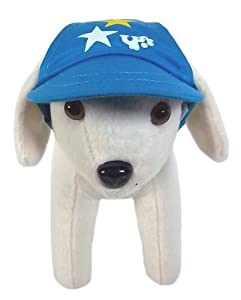 UP Collection Star Printed Cap for Dogs, Aqua Blue, X-Small