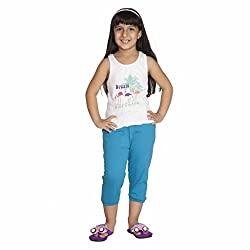 Clifton Girls Solid Capri - Turquoise - Large