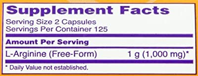 NOW Foods L-Arginine 500mg (Pack of 5)
