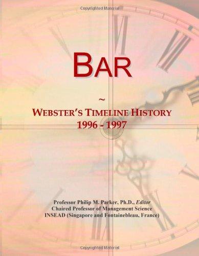 Bar: Webster'S Timeline History, 1996 - 1997