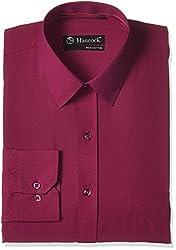 Hancock Men's Formal Shirt (9089Magenta_42)