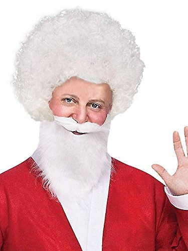 Clown Afro Wig (White) Adult Halloween Costume Accessory