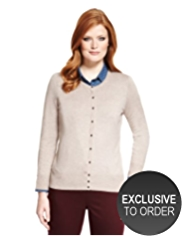 Plus Bobble Button Cardigan