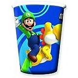 8 gobelets carton Mario Bros? - Taille Unique