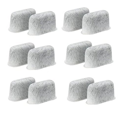 Replacement Charcoal Water Filters -Removes Chlorine, odors, and others impurities from Water-for Cuisinart Coffee Machines- Set of 12 pack (12 Cup Water Pitcher compare prices)